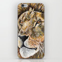 Portrait of a Lion iPhone Skin