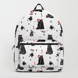 Christmas black and white animals Backpack