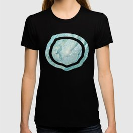 """Aquamarine Pastel and Teal Agate Crystal"" T-shirt"