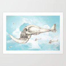 flying piranha Art Print