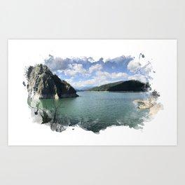 Vidraru Lake Landscape Art Print