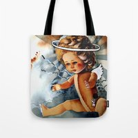 doll Tote Bags featuring Doll by gapinska