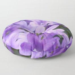 DREAMY - Purple flowers - Bellflower in the sun #1 Floor Pillow