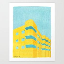 Yellow Bauhaus Art Print