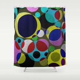 Bubbles - Fun, geometric, colourful design Shower Curtain