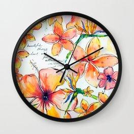 Beautiful tropical things Wall Clock