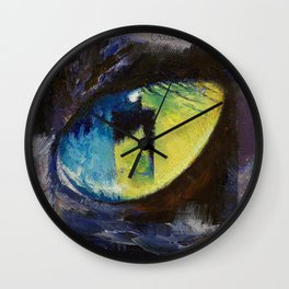Blue Cat Eye Wall Clock