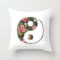 yin yang Throw Pillows featuring Yin Yang by Hipster