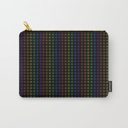 Rows of Rainbow Flowers Carry-All Pouch