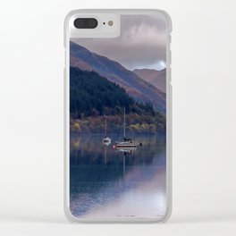 Argyll Scotland loch peaceful boats Clear iPhone Case
