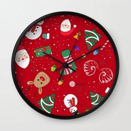 Happy New Year Theme Pattern Wall Clock