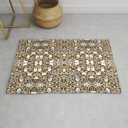 jewelry gemstone silver champagne gold crystal Rug