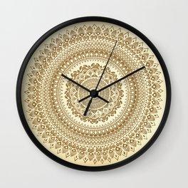 """""""Henna inspired"""" Mandala Illustration Wall Clock"""