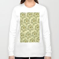 floral pattern Long Sleeve T-shirts featuring Pattern floral by LoRo  Art & Pictures