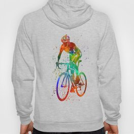 Woman triathlon cycling 05 Hoody