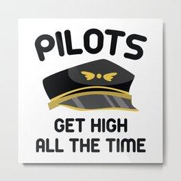 Pilots Get High Metal Print