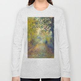 """Auguste Renoir  """"In the Woods"""" Long Sleeve T-shirt"""