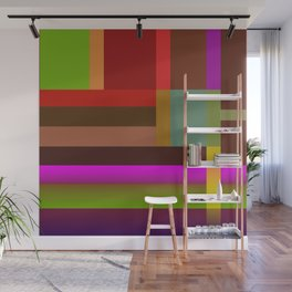 Multicolored geometric bands Wall Mural