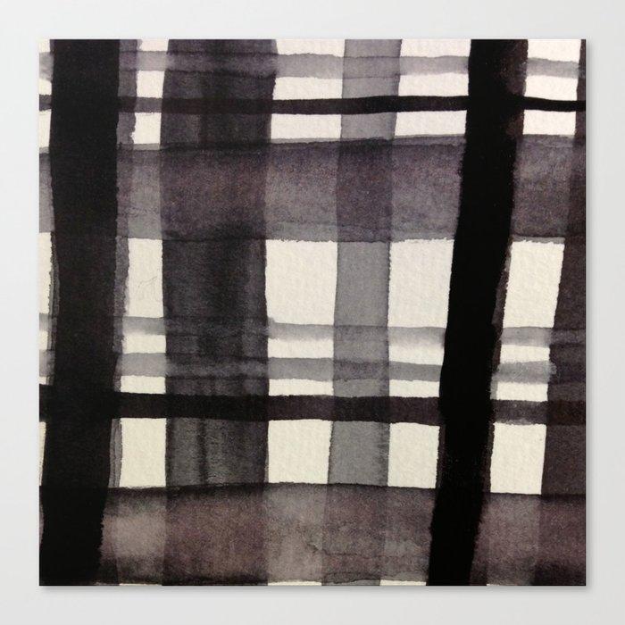 Painterly Plaid Canvas Print