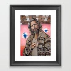 The Dude / The Big Lebowski / Jeff Bridges Framed Art Print