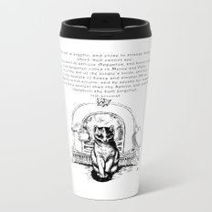 The Cat is Cryptic Metal Travel Mug