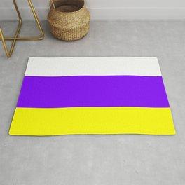 flag of canary islands 2b -canaries,canary,atlantic,canarias,Canarian,canario,canaria,spain,spanish, Rug