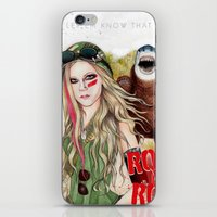 rock n roll iPhone & iPod Skins featuring ROCK N ROLL by ●•VINCE•●