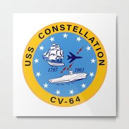 USS Constellation CV-64 Aircraft Carrier Insignia Metal Print