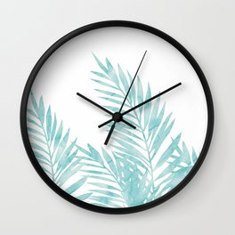Palm Leaves Island Paradise Wall Clock