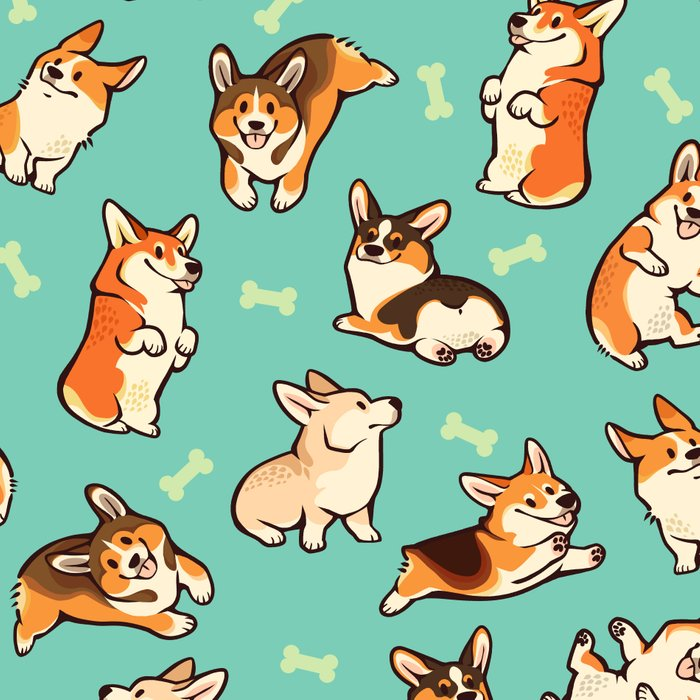 Jolly corgis in green Leggings