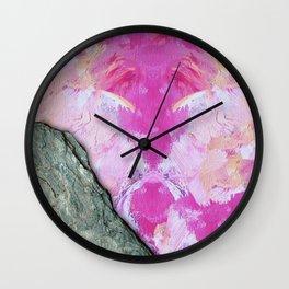 Brush Strokes / Oil Pink Wall Clock