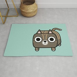 Cat Loaf - Brown Tabby Kitty Rug