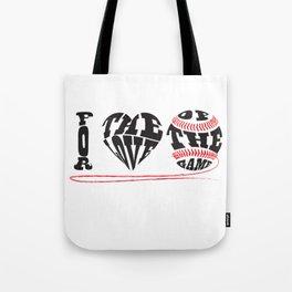 I Love Baseball Tote Bag