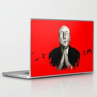hitchcock Laptop & iPad Skins featuring Alfred Hitchcock by Ilustrismo