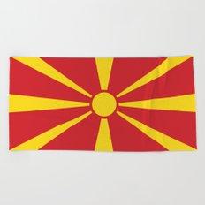 Flag of Macedonia - Macedonian,skopje,Bitola,Kumanovo,Prilep,Balkan,Alexander the great,Karagoz,red Beach Towel