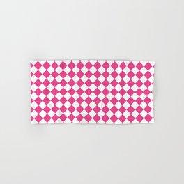 Pink Checkered Hand & Bath Towel