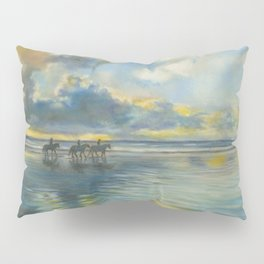 Horses on the Shore Pillow Sham