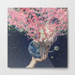 Love Makes The Earth Bloom Metal Print