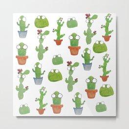 Cute Cacti Metal Print