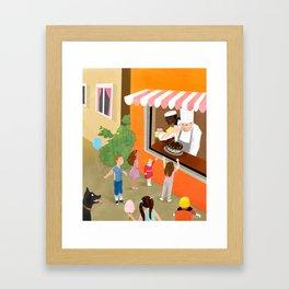 The Bakery Shop Framed Art Print