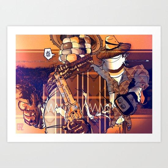 Choclo y Salcedo en el oeste (VariantRETRO) Art Print