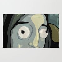 frankenstein Area & Throw Rugs featuring Young Frankenstein by Claudio Gomboli