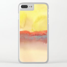 Watercolor abstract landscape 01 Clear iPhone Case