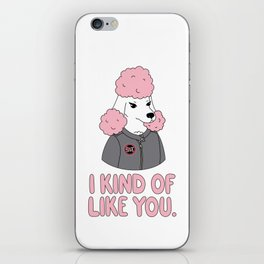 Pissed Poodle iPhone Skin