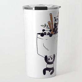 Lustige Asien Panda Bambus Motiv Travel Mug