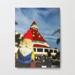 Gnorman visits the Hotel Del Coronado Metal Print
