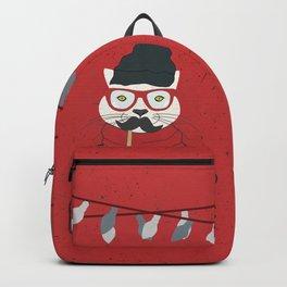 Festive Hipster Cat Backpack