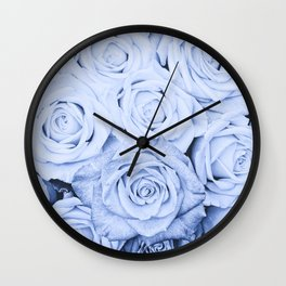 Some people grumble - Blue Rose, Floral Roses Flower Flowers on  #Society6 Wall Clock