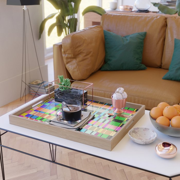 inclined coloured stripes Serving Tray