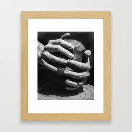 Safe in the Potter's Hands 018AFB Framed Art Print